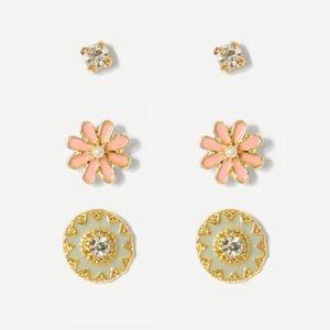 🌸Mandala & Daisy stud earring set